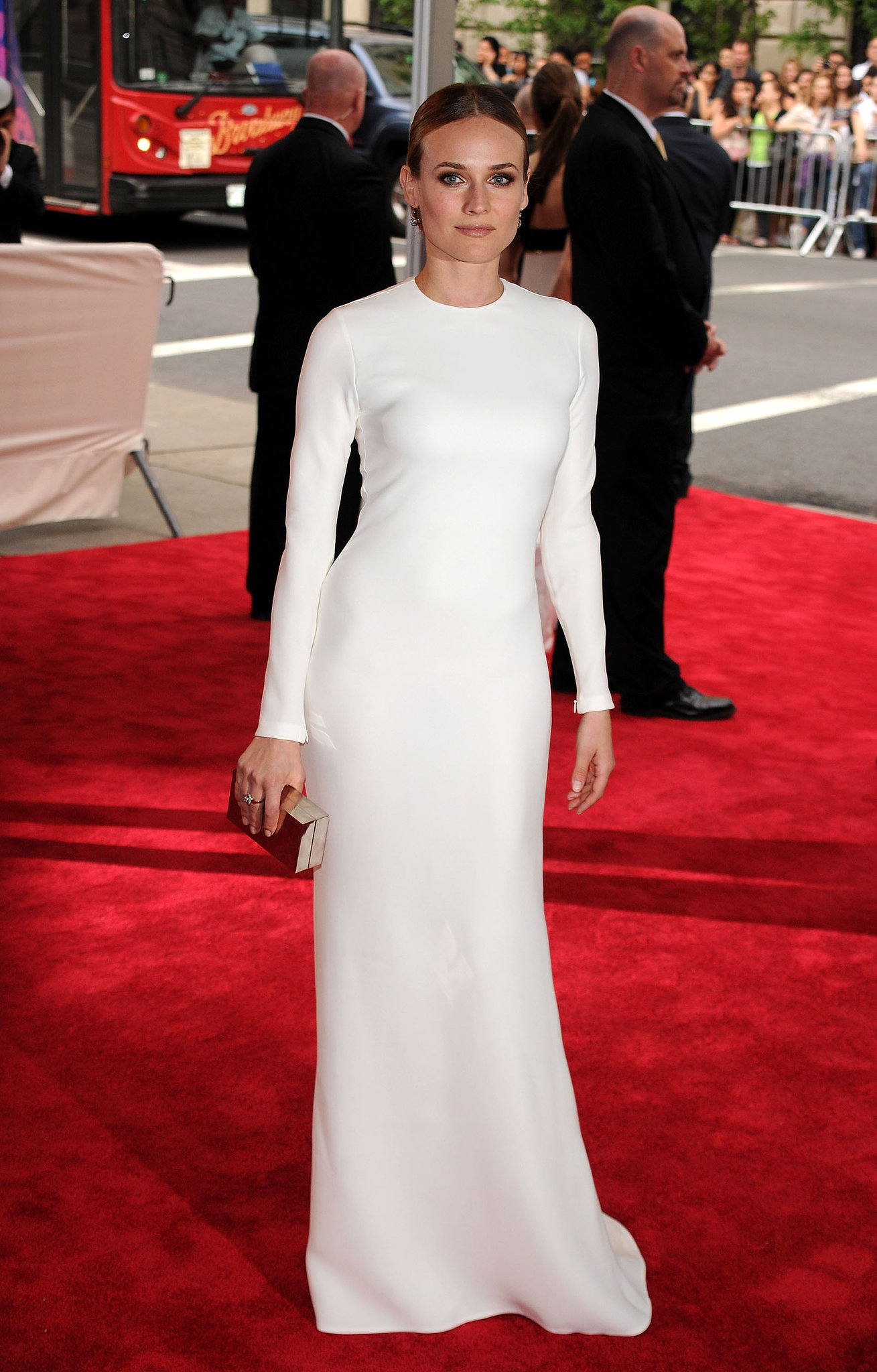 Diane wore minimalist Calvin Klein at the Met Gala in 2010.