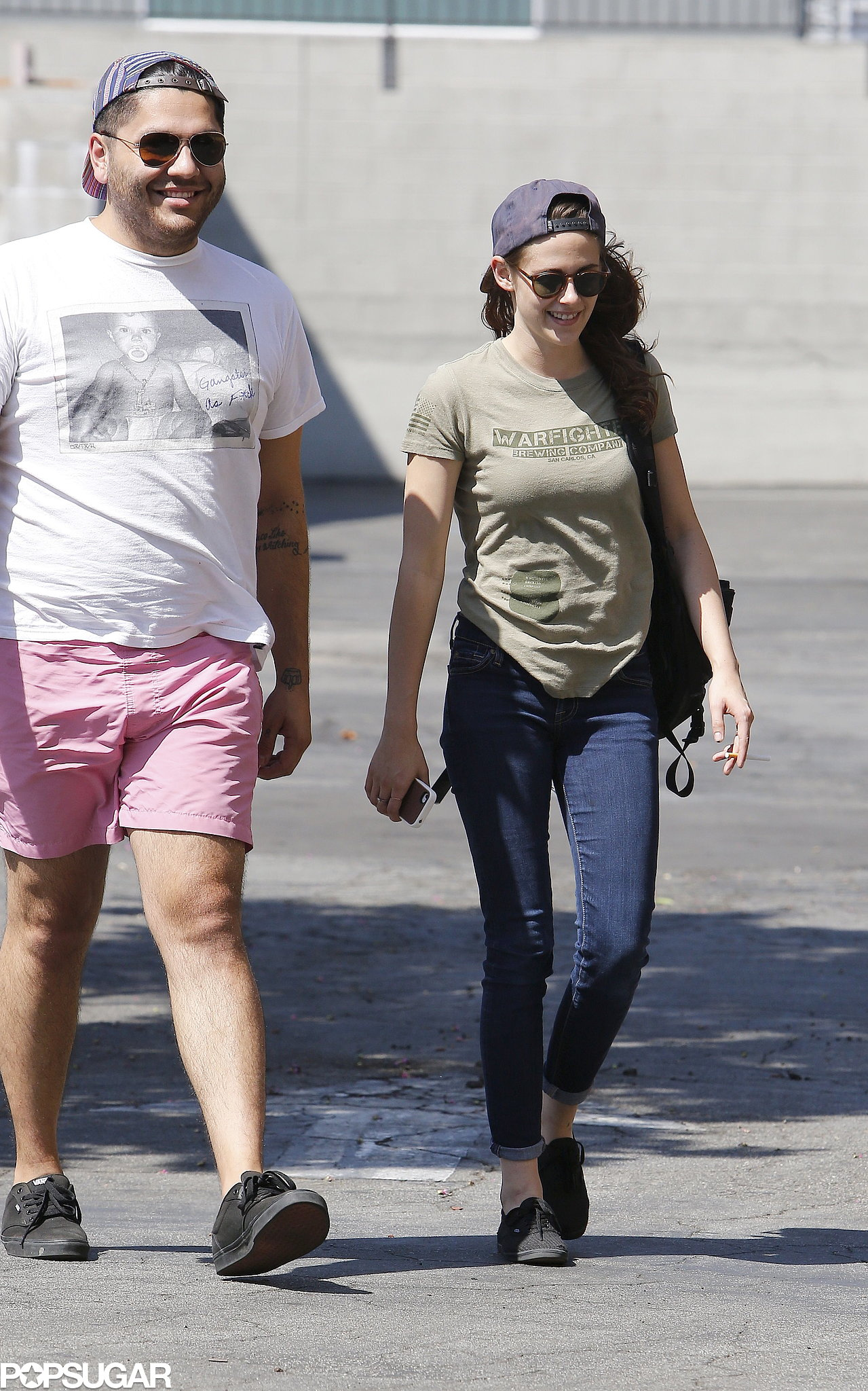 Kristen Stewart Flashes a Smile and Shows Her Support For Veterans