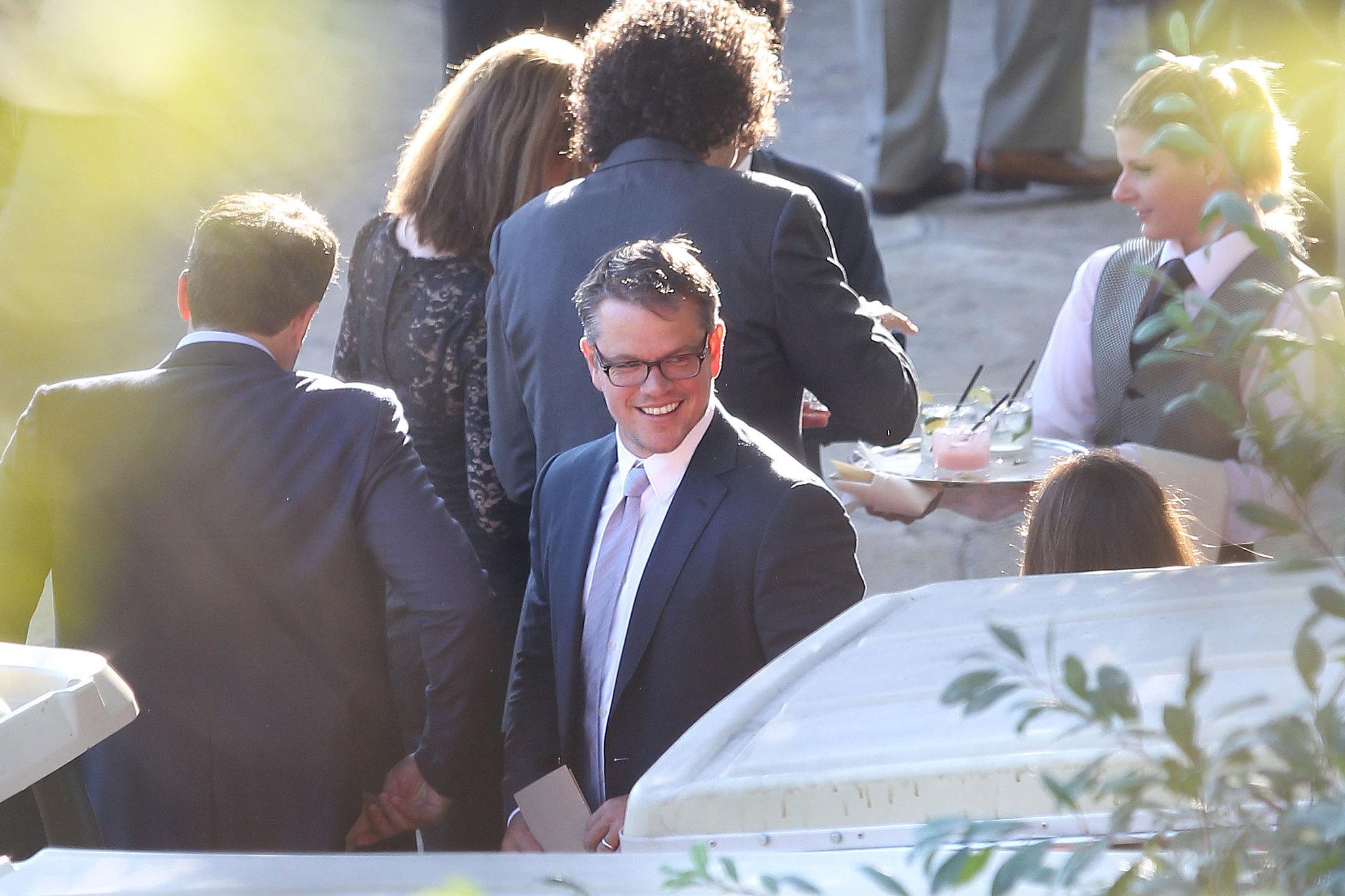 Matt Damon attended Jimmy Kimmel's July 2013 wedding in Ojai, CA.