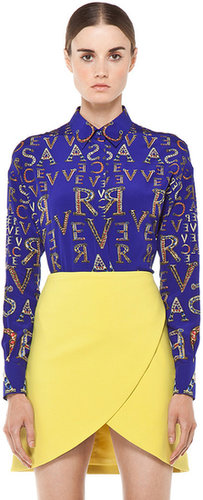 VERSACE Mono Blouse in Blue