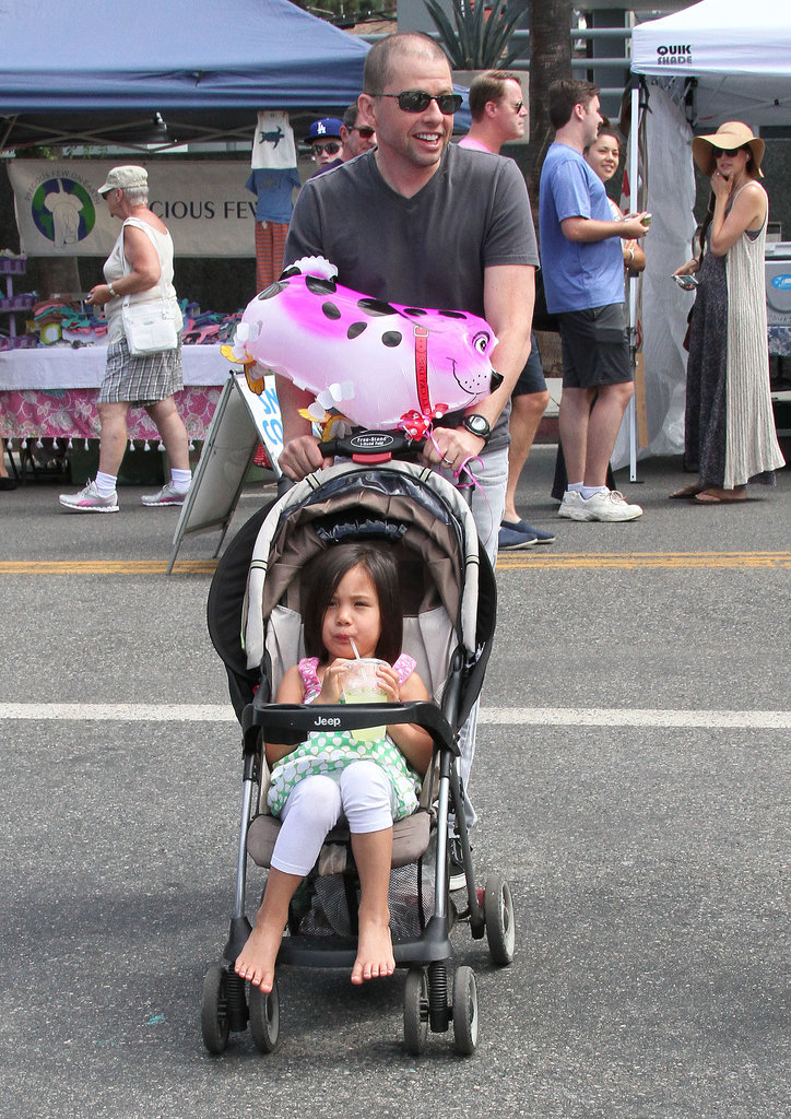 Jon Cryer checked out a farmers market in LA with his daughter, Daisy, on Sunday.