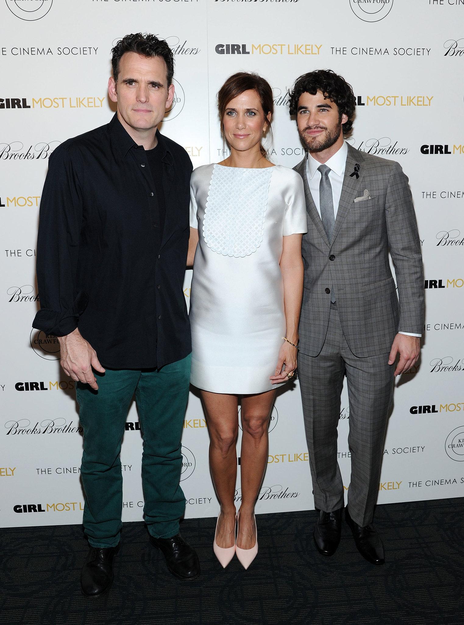 Matt Dillon, Kristen Wiig, and Darren Criss attended the premiere.