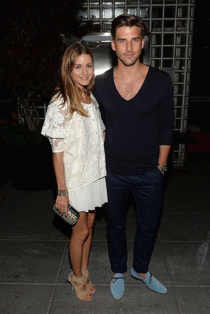 Olivia Palermo attended the screening with her boyfriend, Johannes Huebl.