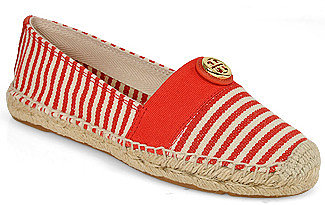 Tory Burch - Beacher - Flat Espadrille in Red Canvas