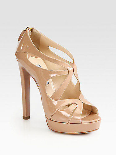 Prada Patent Leather Strappy Platform Sandals