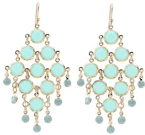 Kate Spade New York - Sparkle Dunes Chandelier Earrings (Mint Multi) - Jewelry