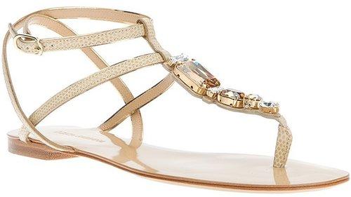 Dolce & Gabbana strappy flat sandal