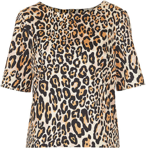 Structured Animal Print Tee