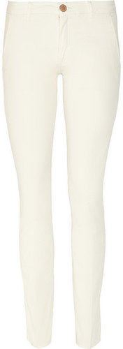 Victoria Beckham Denim Stovepipe mid-rise slim straight-leg pants