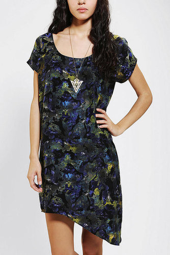 Silence + Noise Silky Printed Shirtdress