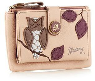 Light pink applique owl purse
