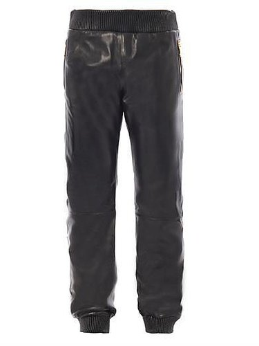 Versace Leather sweatpants