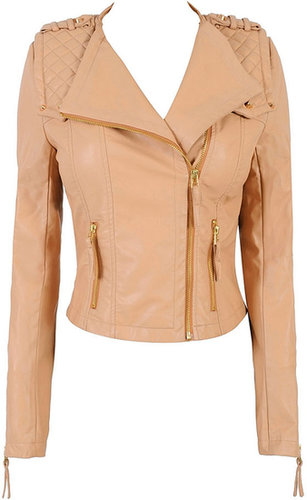 'Chantel' Quilted Leatherette Jacket