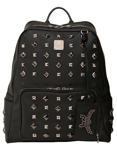 Medium Studded Zipper Backpack