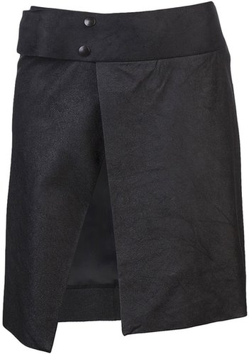 Rick Owens Vault Distressed slit skirt