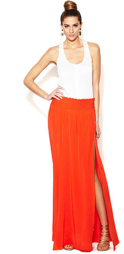 Dasia Silk Split Hem Maxi Skirt