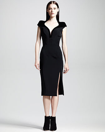 Altuzarra Tribeca Seamed Slit-Front Pencil Dress