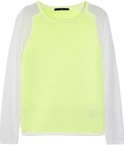 Tibi Neon heavy and fine-knit sweater