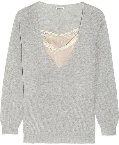 Miu Miu Oversized cashmere sweater