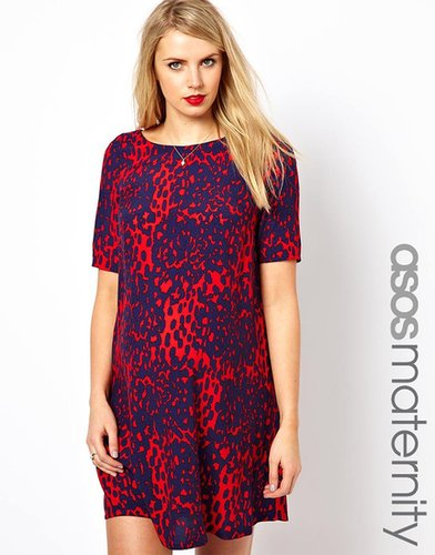 ASOS Maternity Shift Dress in Animal Print