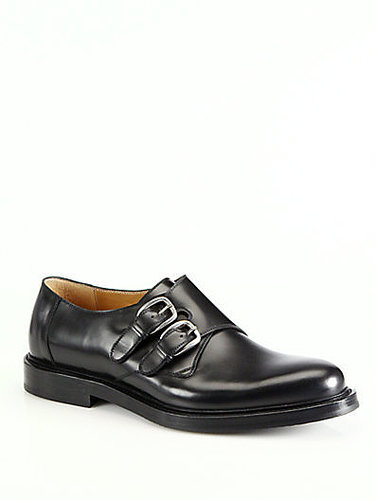 Gucci Ragona Leather Monk Strap