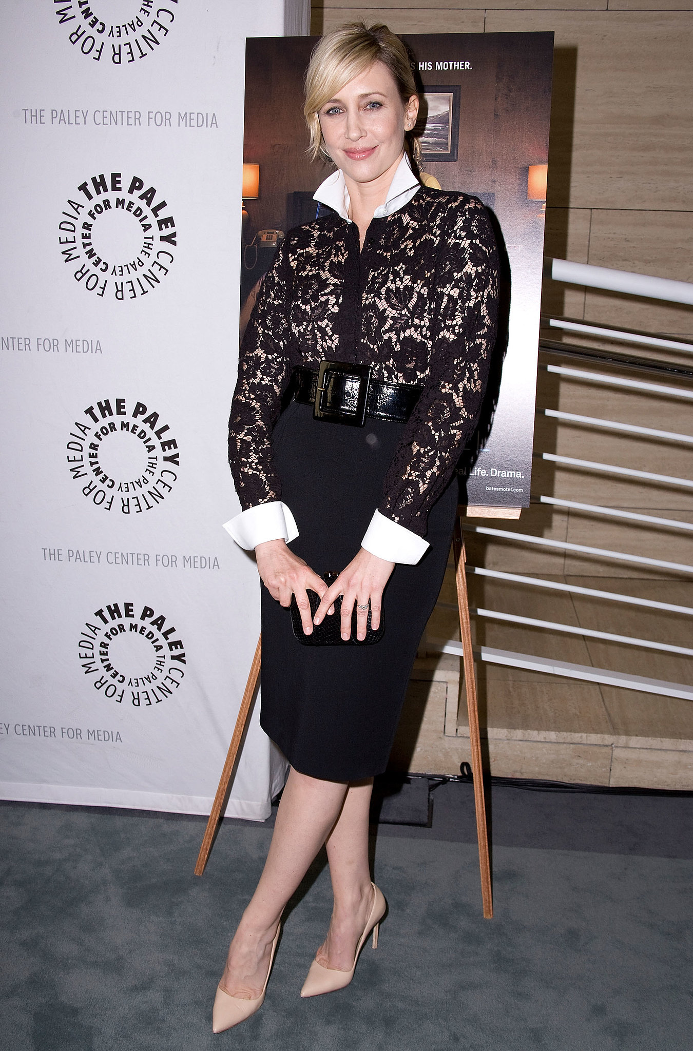 for a screening of bates motel vera outfitted a slim