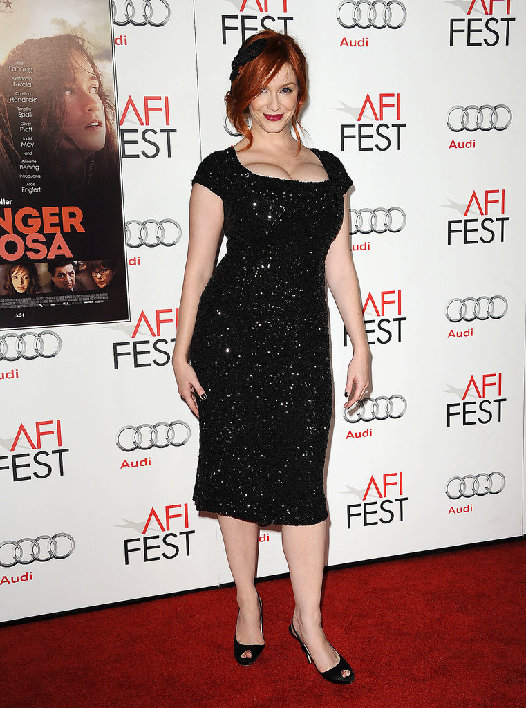Talk about sparkle — Christina was a standout in this curve-conscious sequined sheath at a film screening in November 2012.