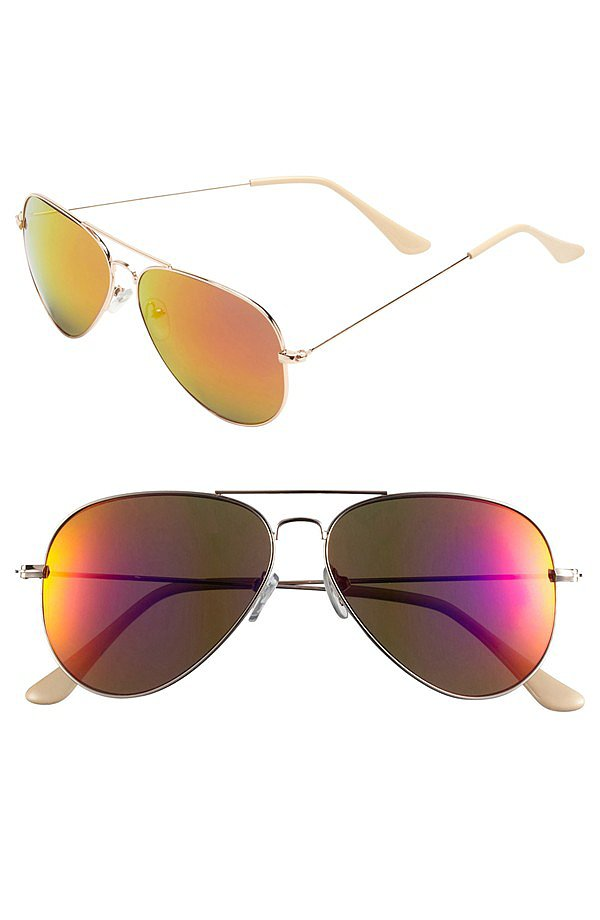 We love how these reflective BP aviators ($12) mimic sunset hues.