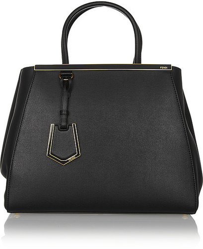 Fendi 2 Jours textured-leather shopper