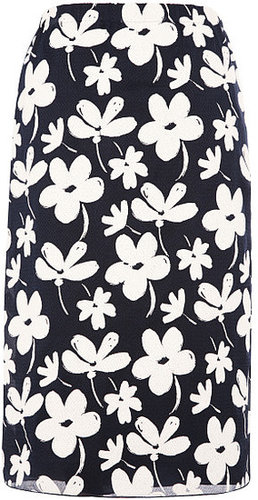 Preorder Marni Gauze Ink Flowers Pencil Skirt