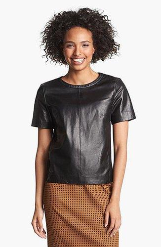 Halogen® Leather Front Top (Regular & Petite)   Nordstrom