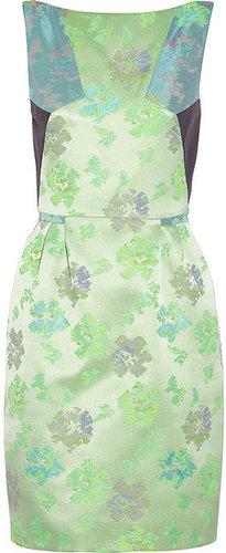 Matthew Williamson Paneled floral brocade dress