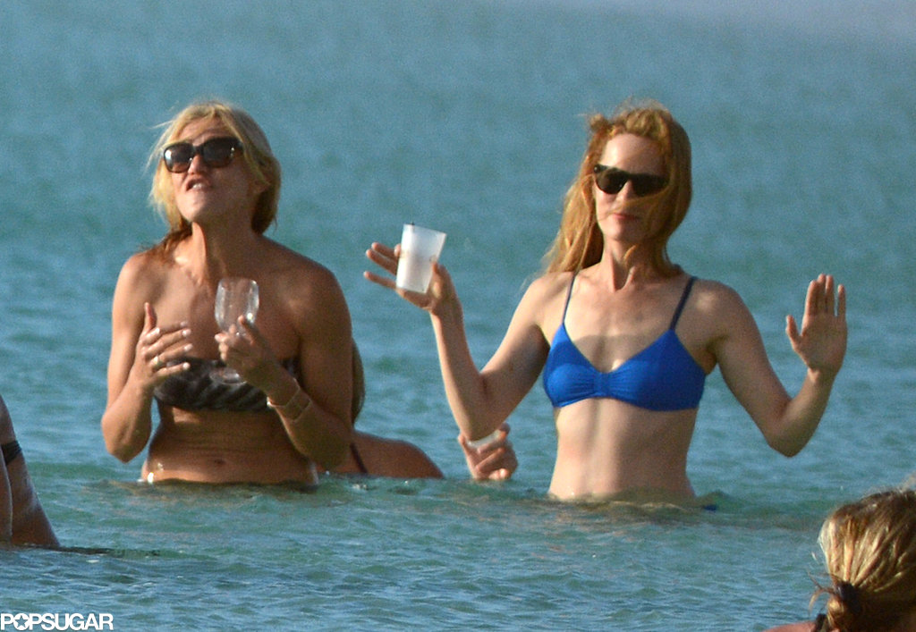 Cameron, Kate, and Leslie Sport Bikinis and Sip Cocktails in the Bahamas