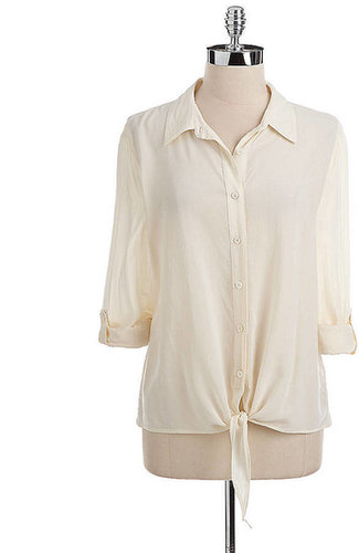 TWO BY VINCE CAMUTO Lace-Back Tie-Hem Blouse