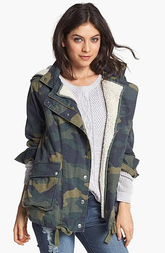 Rubbish Faux Shearling Lined Slouchy Jacket (Juniors) Small