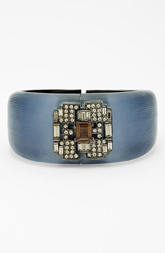 Alexis Bittar 'Lucite - Deco' Hinged Bracelet (Nordstrom Exclusive) Sea Blue
