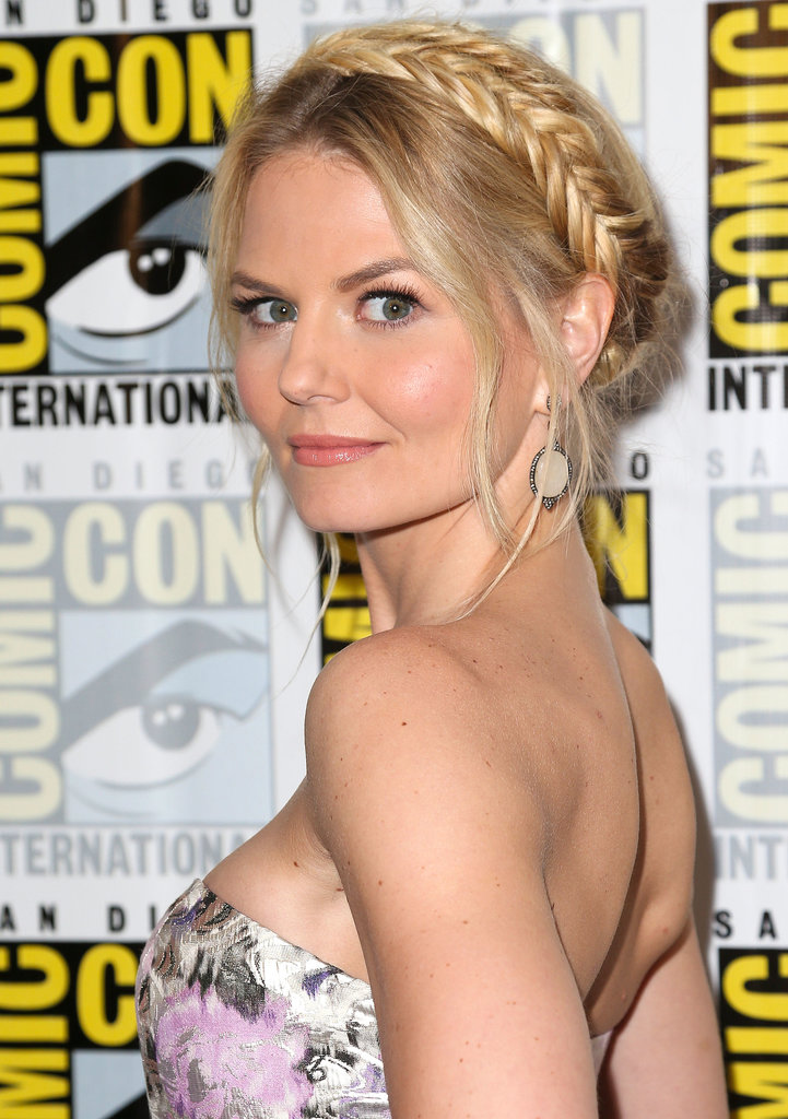 A milkmaid braid looked just darling on Jennifer Morrison at the Once Upon a Time press line.
