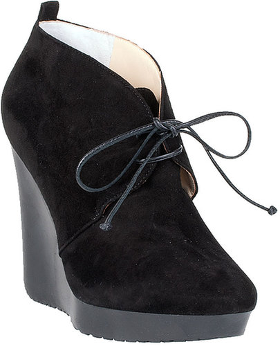 Jimmy Choo Baxter black suede wedge bootie
