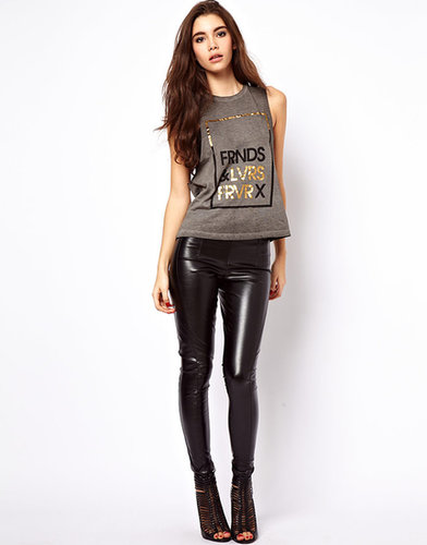 ASOS Skinny Pants In Leather Look