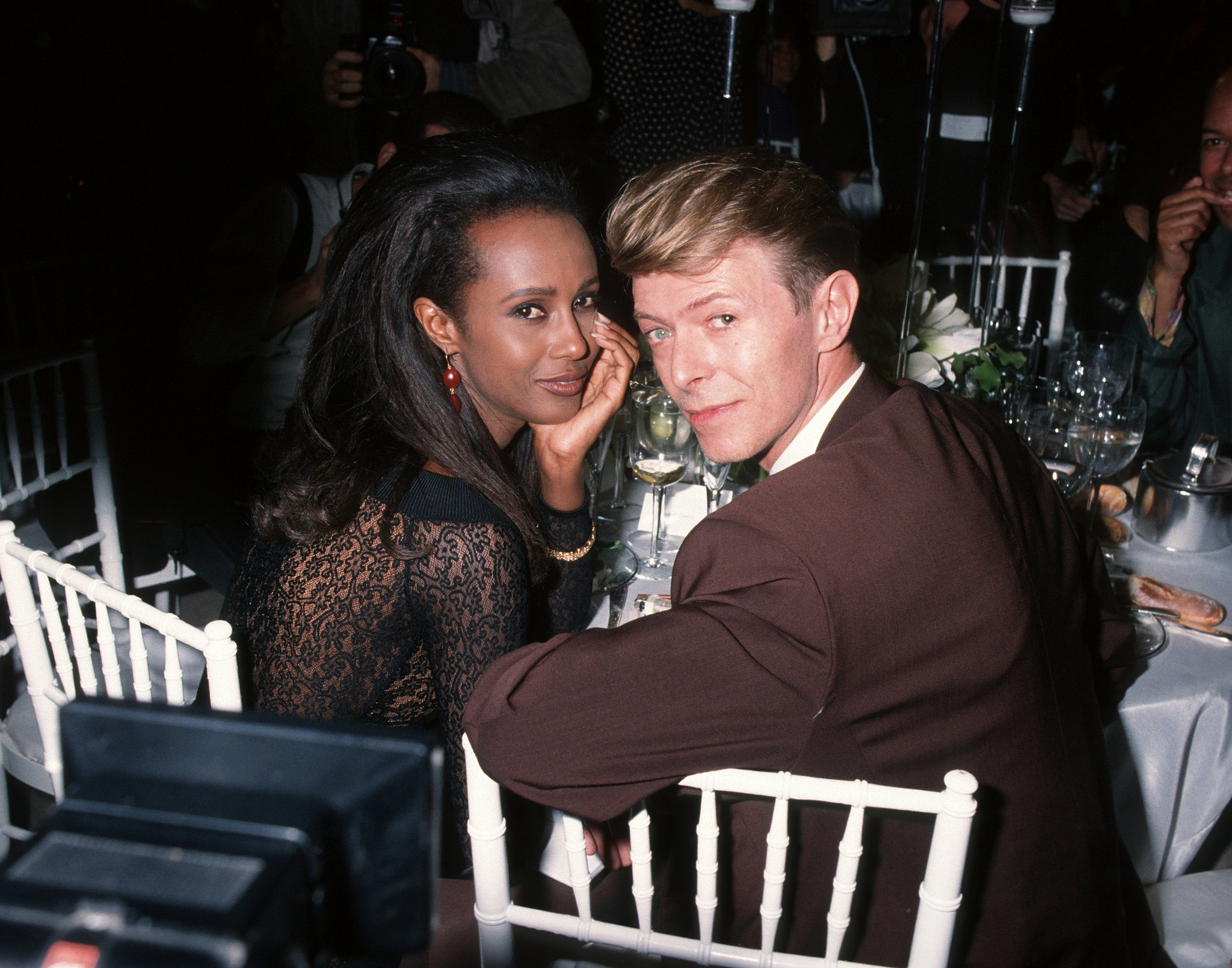 Iman and David Bowie  ...