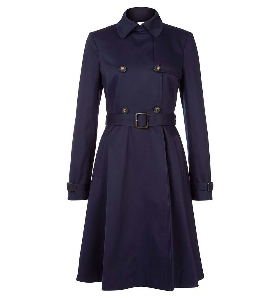With Britain's weather unpredictable at its best, we suggest the duchess have a stable of trusty trenches at the ready. This skirted Hobbs option ($249) will be flattering on a postbaby middle.