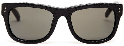 Linda Farrow Luxe Python Wayfarer Sunglasses