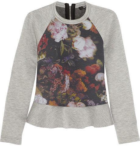 Markus Lupfer Silk sateen-paneled jersey sweatshirt