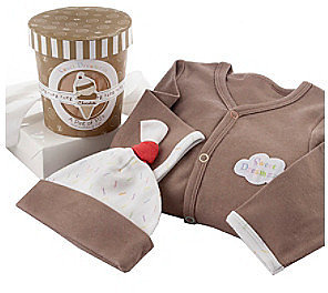 "Baby Aspen ""Sweet Dreamzzz"" Pint of PJ's Sleep-Time Gift Set - Chocolate"