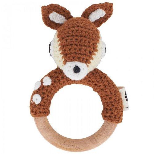 Sebra Crochet Deer Rattle