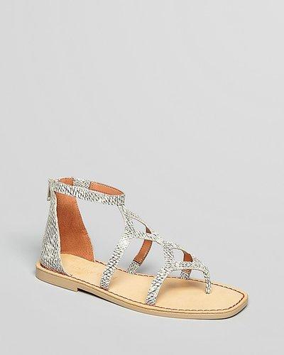 Luxury Rebel Gladiator Sandals - Kendall Flat