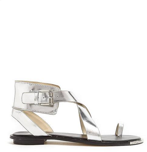 MICHAEL Michael Kors Silver Clader Gladiator Sandals