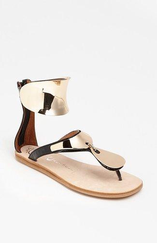 Jeffrey Campbell 'Congo' Sandal Black Patent/ Gold 7.5 M