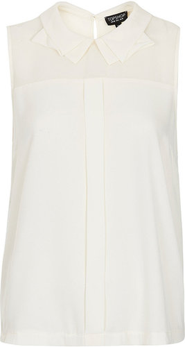 Shell Top With Collar Detail