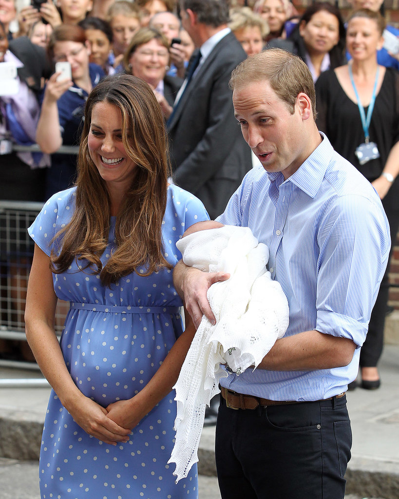 Kate Middleton laughed as Prince Wiliam joked around with the press.